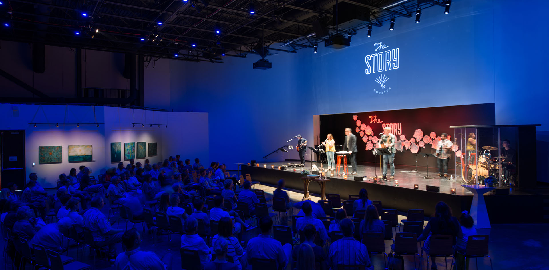 The Story contemporary worship with stage