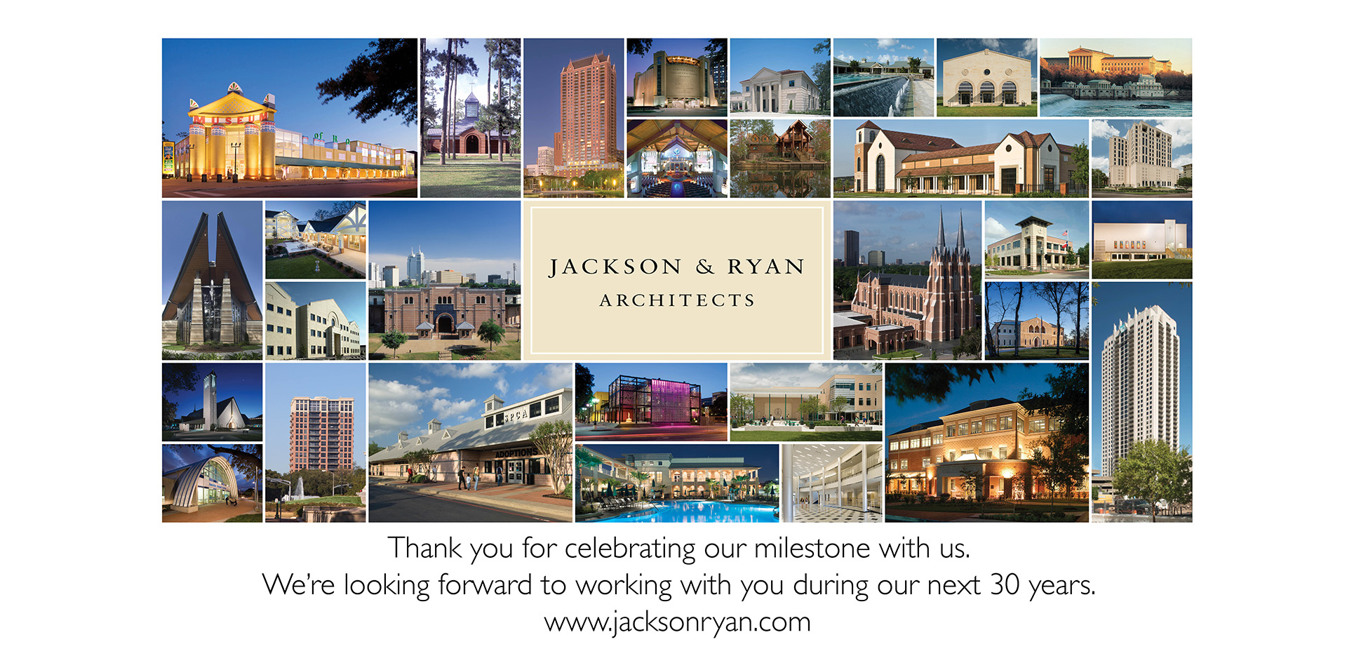 Jackson & Ryan Architects 30 year Grid