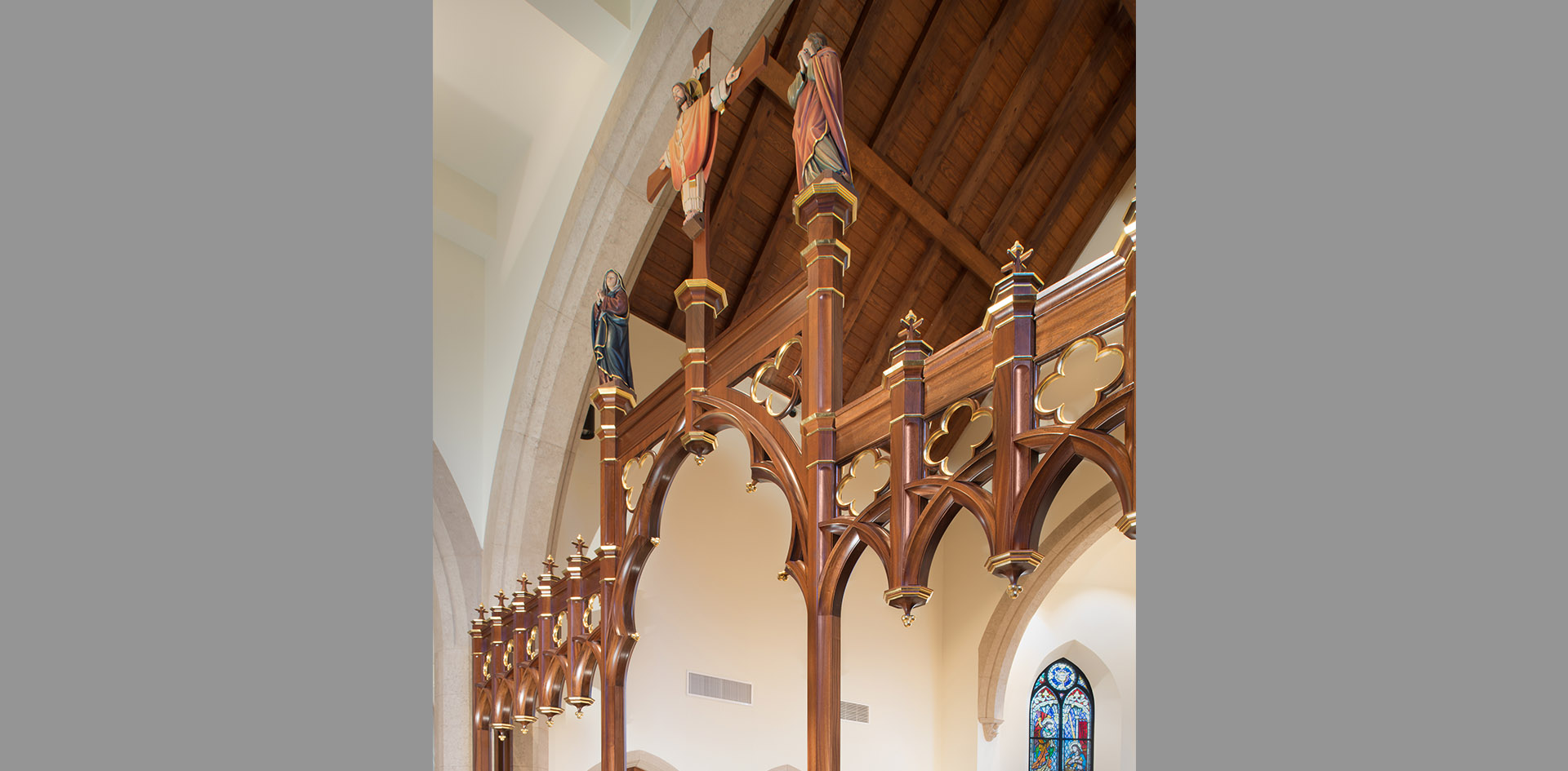 Our Lady of Walsingham Catholic Church Rood Screen 3g